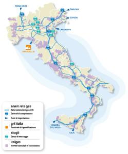 Snam Rete Gas infrastructure