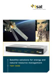 Brochure TSAT 3000